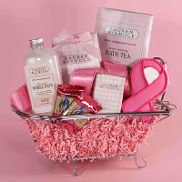 Pretty in Pink Spa Basket. Shop in Ukrainian Marriage Agency.