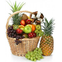 Large basket of Fruit. Shop in Ukrainian Marriage Agency.