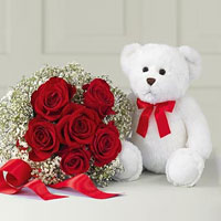 Love me Tender Bouquet & Bear. Shop in Ukrainian Marriage Agency.