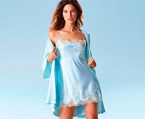 Blue Short Nightdress & Light Jacket. Shop in Ukrainian Marriage Agency.