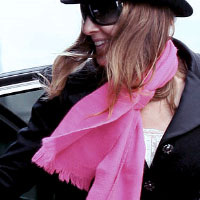 Pink scarf . Shop in Ukrainian Marriage Agency.