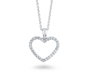 Silver chain with a heart-shaped pendant . Shop in Ukrainian Marriage Agency.