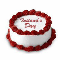 Personalized cake with the name Tatiana. Shop in Ukrainian Marriage Agency.