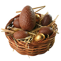 Easter chocolate eggs. Shop in Ukrainian Marriage Agency.
