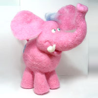 Big pink elephant. Shop in Ukrainian Marriage Agency.