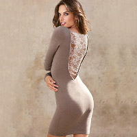 Lace-back sweaterdress . Shop in Ukrainian Marriage Agency.