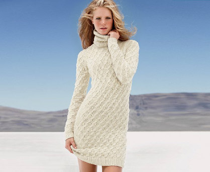 Sweaterkleid mit Rollkragen. Shop in Ukrainian Marriage Agency.