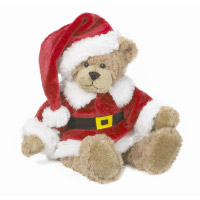 Santa teddy bear. Shop in Ukrainian Marriage Agency.