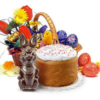 Easter basket with tasty presents. Shop in Ukrainian Marriage Agency.