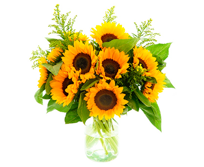 Sonnenblumenstrauss. Shop in Ukrainian Marriage Agency.