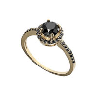 Ring with a dark stone. Shop in Ukrainian Marriage Agency.