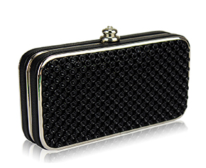 Black glamour clutch. Shop in Ukrainian Marriage Agency.