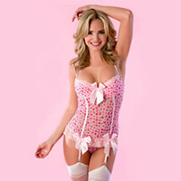 Heart print bustier. Shop in Ukrainian Marriage Agency.