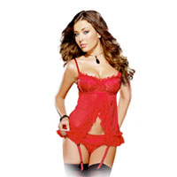 Red lace babydoll . Shop in Ukrainian Marriage Agency.