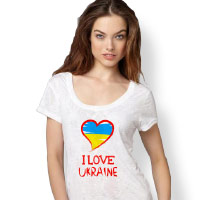 T-shirt 'I love Ukraine'. Shop in Ukrainian Marriage Agency.