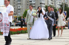 Parade of Brides in Ukraine with UaDreams.com