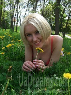 Elena from Rovno 27 years - eyes lakes. My small public photo.