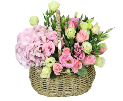 Mixed flowers Basket. Shop in Ukrainian Marriage Agency.