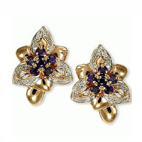 Flowershaped earrings. Shop in Ukrainian Marriage Agency.