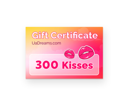 300 kisses. Shop in Ukrainian Marriage Agency.