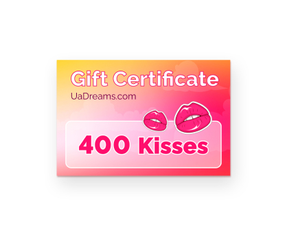 400 kisses. Shop in Ukrainian Marriage Agency.