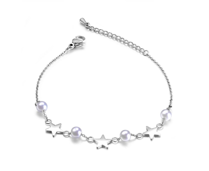 Pearl bracelet with stars. Shop in Ukrainian Marriage Agency.