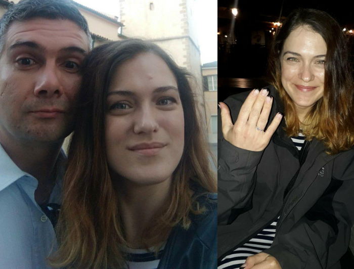 A couple who met each other on UaDreams.com and want to marry