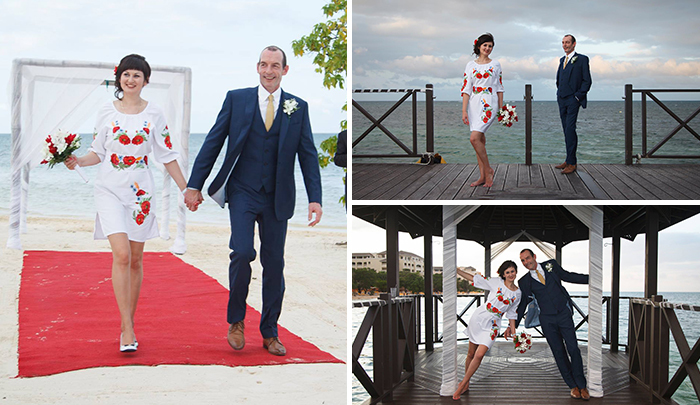 Vika and Steve got married on romantic Jamaica