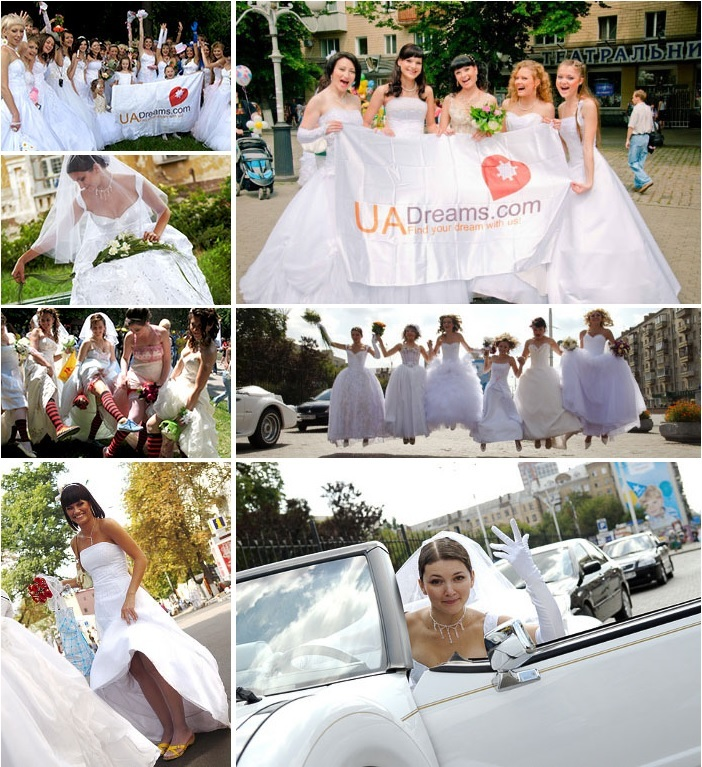 Ukrainian beauties on the bride's parade