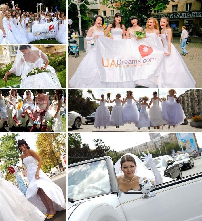 Ukrainian beauties on the bride's parade