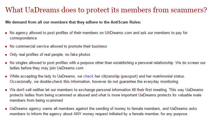 Scam signals: frauds prevention rules
