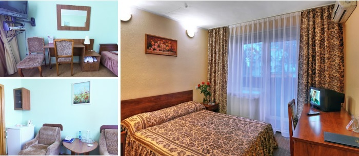 Cosy single room at the hotel for dating trip in Cherkasy