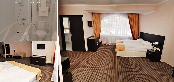 «golden» room for dating at the hotel, Cherkasy