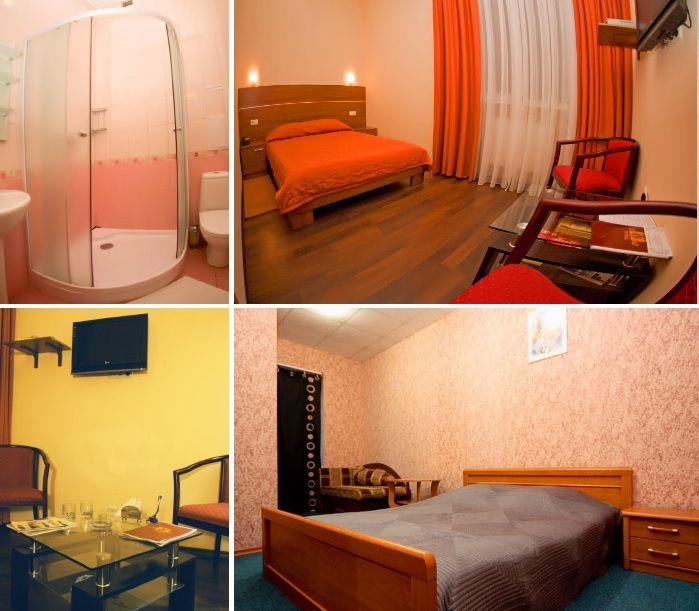 Cosy single room at the hotel for dating trip in Kharkiv