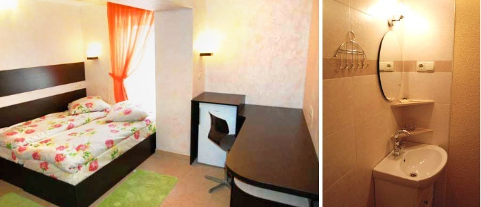 Cosy single room at the hotel for dating trip in Lutsk