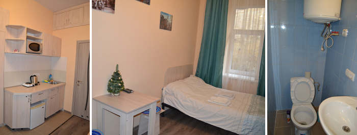 Cosy single room at the hotel for dating trip in Lviv