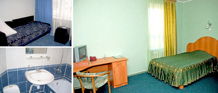 Cosy single room at the hotel for dating trip in Mykolaiv