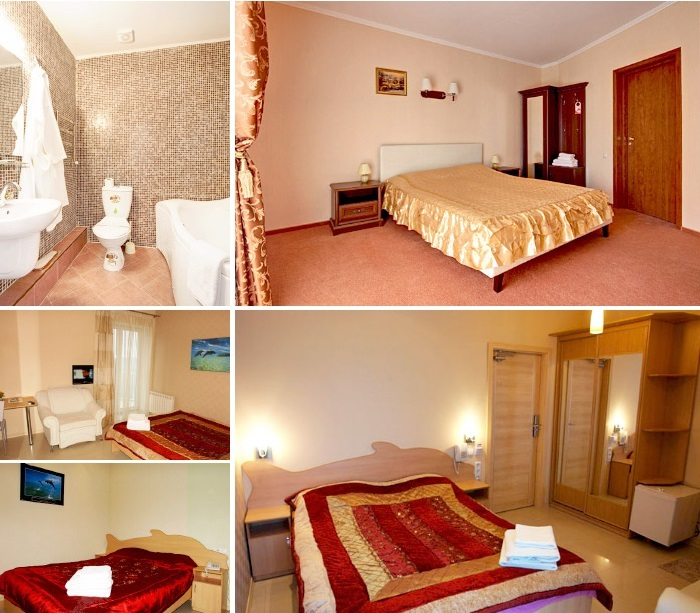 «golden» room for dating at the hotel, Odesa
