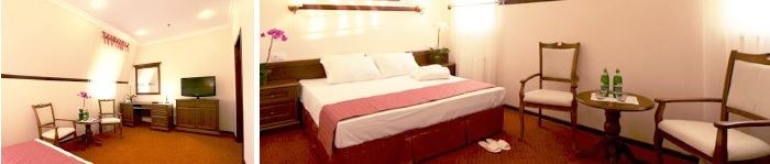 Cosy single room at the hotel for dating trip in Rivne