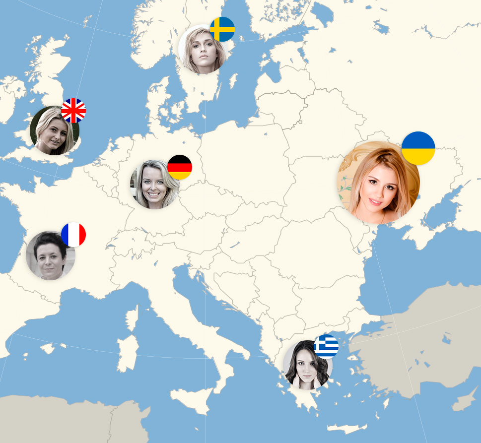 How to marry a European girl - map