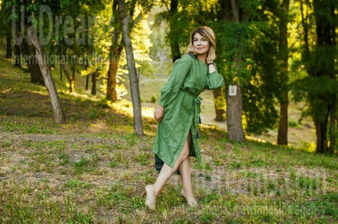 Yuliya from Dnipro 30 years - on a summer outing. My small public photo.
